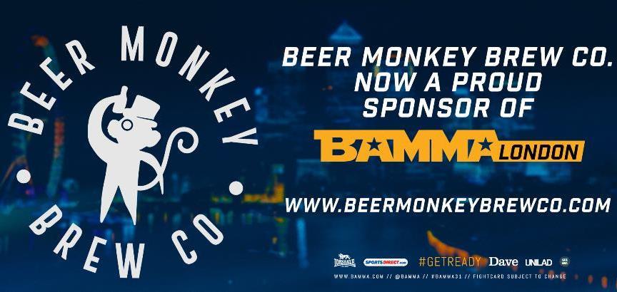 BAMMA z nowym sponsorem przed londyńską galą beer monkey
