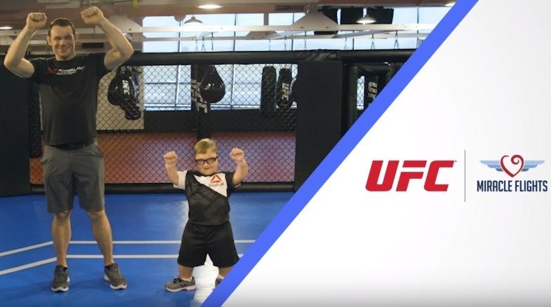 UFC razem z Miracle Flights wspiera chore dzieci